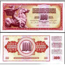 Yugoslavia 100 Dinara 1978 Idd