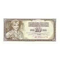 Billete Yugoslavia 10 Dinara (1968) Acerero
