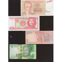 Coleccion De 4 Billetes De Grandes Personajes Del Siglo Xx