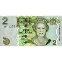 Grr-billete De Islas Fiji 2 Dollars 2007 - Reina Elizabet Ii