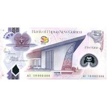 Grr-billete De Papua New Guinea 5 Kina 2010 - Plastico