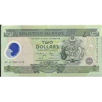 Polimero Islas Salomon 2 Dolares (2007) Pescadores