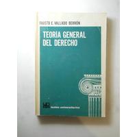 Teoria General Del Derecho Fausto Vallado Ber Envio Gratis