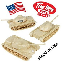 Tanques Timmee Juguete Para Plástico Army Men: Tan Ww2 3pc -