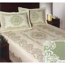 Colcha Europea Artesanal Doble Vista, De Dormi Real, Fn4