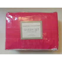 Juego Matrimonial Queen Sabanas Rosa 4 Pz Microfibra Suave!!