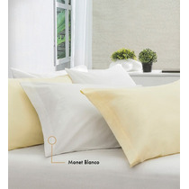 Funda Para Almohada Monet Blanco Beige King Size Vianney Pm0