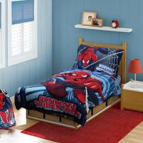 Kit Edredon Sabana Y Almohada Spiderman Marvel