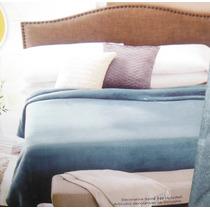 Colcha Cobertor Afelpado Terciopelo King Azul & Negro E4f