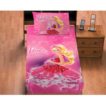 Juego De Sabanas Individual Barbie Magica Concord Para Niñas