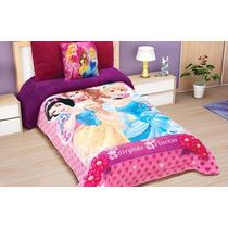 Cobertores Edredon Nuevos Borrega Princesas Disney