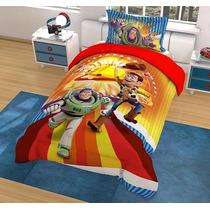 Edredon Individual Disney Hd Toy Story Strike + Funda