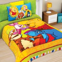 Cobertor Matrimonial Providencia Winnie Pooh Borrega