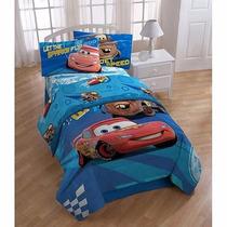 Disney Cars Set Cama Matrimonial 2 Sabanas Y 2 Fundas