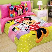 Tapa A Tus Hijos Con El Edredon De Mimmie De Disney