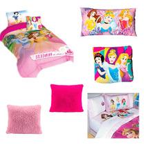 Paquete Princesas Individual Edredón,sábanas,almohada,cojin