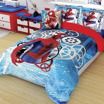 Set Edredon Matrimonial Spiderman Hd + 2 Fundas Decorativas