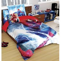 Set Edredon Individual Spiderman Hd + Funda Decorativa