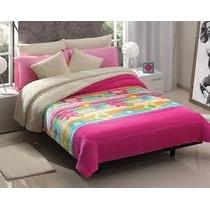 Cobertor Con Borrega Galaxy,coqueta Rosa, De Concord Au1