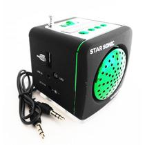 Mini Bocina Electro Recargable Radio Usb Mp3 Sd Auxiliar