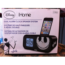 Dock Ihome Bocina Iphone Ipod Jack Disney Reloj Alarma Doble
