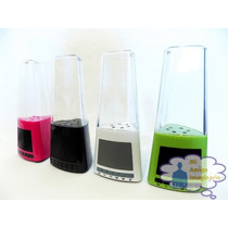 Bocina Mp3 Usb Agua Danzante Show Luces Led Colores