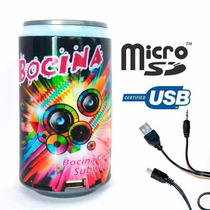 Bocina Portatil Lata,usb, Aux Mp3 Radio Fm