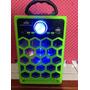 Bocina Bluetooth Recargable, Usb, Aux, Radio Fm Con Luz Led