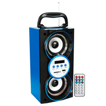 Bocina Portatil Recargable Mp3 Usb Sd Led Radio Fm Y Control