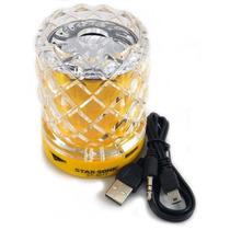 Mini Bocina Cristal Radio Fm Usb Auxiliar Micro Sd St-3017