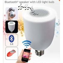 Foco De Luz Led Con Bocina- Speaker Bluetooth Y Control Remo