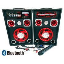 Bocinas Karaoke Equalizador Radio Fm Bluetooth Aux Li-sp10