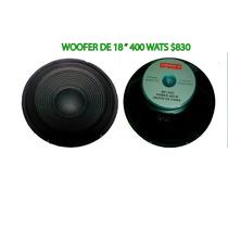Bocina Woofer De 18 Pulgadas De 400 Wats