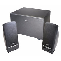 Cyber Acoustics Ca-3000 Three Piece Subwoofer And Satellite