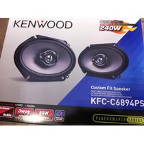 Bocinas 6x8, 5x7 Kenwood Kfc-c6894 Ps 240 Watts 3 Vias