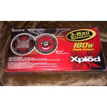Bocinas Sony Xplod 6 1/2 180w 3 Vias Nuevas En Caja