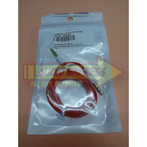 Cable 3.5 A 3.5 Color Rojo Plano 080022