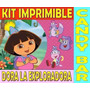 Kit Imprimible Dora La Exploradora Fiesta Cumpleaños Torta