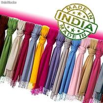 Lote 50 Pashminas De La India Precio De Fabrica, Negocio!!!
