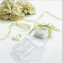 Cajas Cuadradas Recuerdos Cristalinas Boda Bautizo 59 Piezas