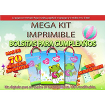Mega Kit Imprimible De Bolsas Bolsitas Personalizadas