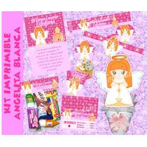 Kit Imprimible Baby Angelita Primera Comunión Bautizo Tarjet