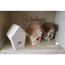 Paquete Cajitas Mesa Dulces Boda Vintage Cajas