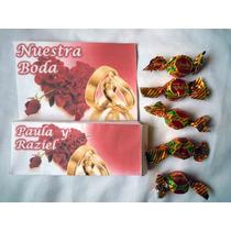 Invitacion Recuerdo Cajita Con Chocolates, Boda, 15 Años, Xv