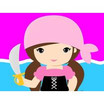 Kit Imprimible Pirata Nena Candy Bar Tarjetas Invitacione #1