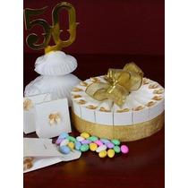 Kit Bodas De Oro Pastel Decoración Y Recuerdos!!