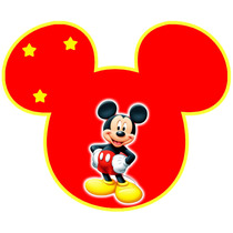Kit Imprimible Mickey Rojo Chivic Cumpleaños Invitaciones