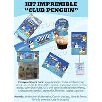 Kit Imprimible Club Penguin Regalos Fiesta Cumple Tarjetas