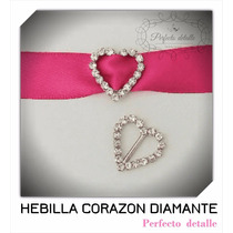 25 Hebillas Corazon Diamante Decoracion De Invitaciones