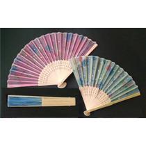 Abanicos Bambú Tela Colores Con Aroma Bautizo Xv Años Boda